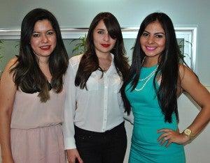 Lisa Madrid, Michelle Bautista y Besy Vallecillo.