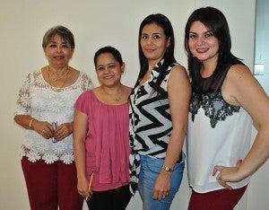 Yadira Canales, Carla Erazo,Marly Sierra y Stephanie Elvir.