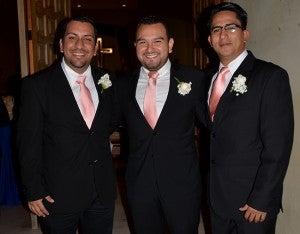 Flavio Núñez, Jahyro Mendoza y Cesar Midence.