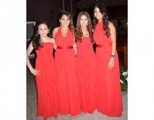 Gabriela Abudoj, Jackie Fortín, Ariana  y Andrea Eiroa.