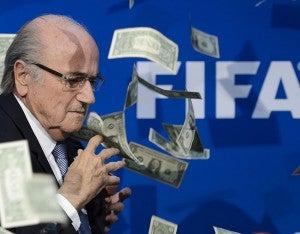 El titular de la FIFA estaba molesto.