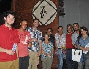 Samuel Farach, Raúl Gámez, Antonio Farach, Adelina Araúz, María del Carmen Urbina, Maribel Zúniga, Salvador Urbina, Howard y Victoria Carella.