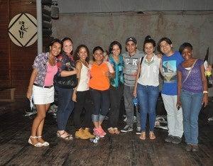 Estudiantes de la carrera de Arte de la Universidad Pedagógica Nacional.