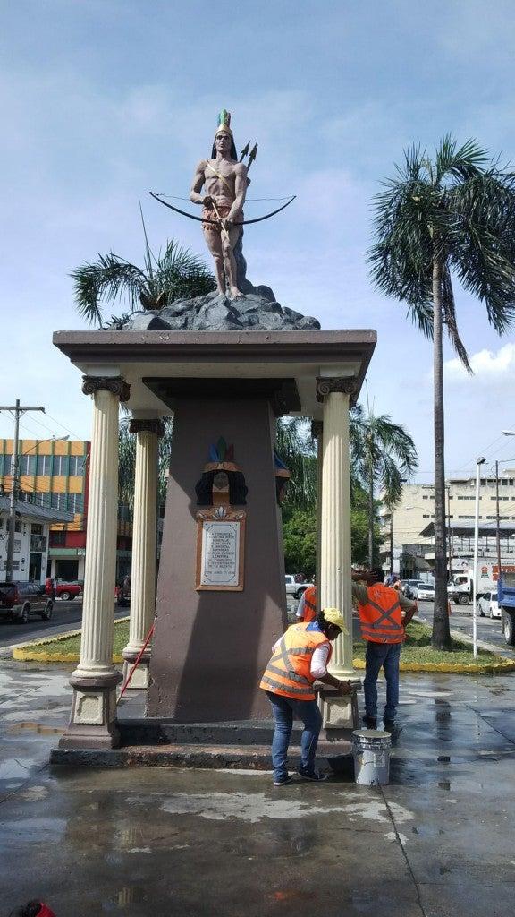 Honduras Limpian y restauran avenida de Los Leones en San Pedro Sula (2)