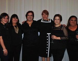 Judy Faraj, Estela Ortega, Azucena Ponce, Verónica Ortega, María Dolores de Rápalo y Pamela Boadla.