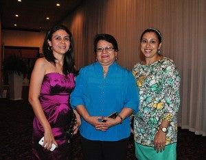 Cristy María Salgado, Olga Echeverría y Yahaira Garay.