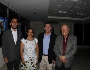 Eduardo y Soledad Altamirano, Rubén Darío Paz y Roger Marín.