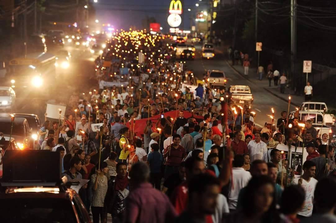 Marchas en Tegucigalpa.