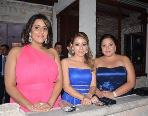 Jackie Rishmawi, Rita Almendarez y Ana Carolina Durón.