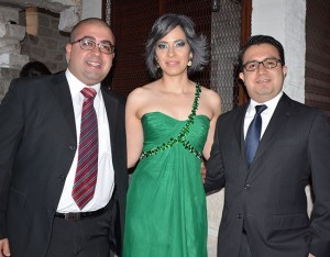 Marció Rodríguez, Ailyn Álvarez y Carlos Flores.
