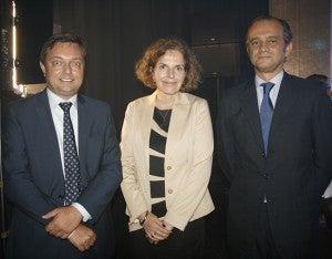 Ketil Karlsen, Beatrix Kania y Miguel  Albero.