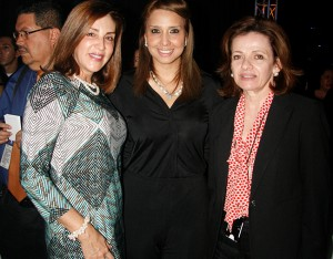 Marcia Villeda, Alejandra Hernández  y María del Carmen Nasser.