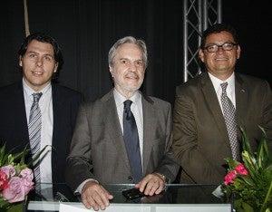 Gustavo Duque, Paulo Speller y Marlon Escoto.