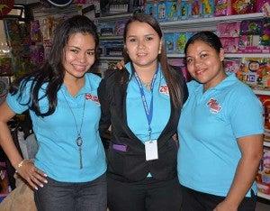 Tatiana Matamoros, Ivonne Irías y Elda Figueroa.