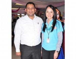 Joel Espinoza y Laura Vásquez.
