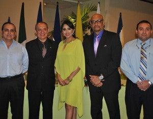 Miguel Crespín, Osiris Paredes, Juan Carlos Ordoñez y Oscar Sánchez parte del comité organizador del homenaje al doctor Miguel Aguiluz.