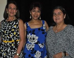 Vivian Giacoman de Martínez, Lorette Kawas de González y Norma Hernández.