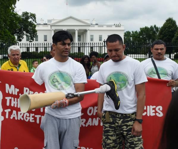 La petición de un migrante hondureño en su visita a la Casa Blanca