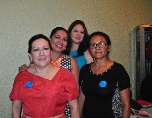 Damas de la directiva, organizadoras del evento Blanca Echeverri, Jessica de Zelaya, María Teresa Hernández y Joely Montufar.