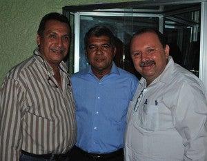 Alfonzo Flores, Marco Antonio Rodríguez y Marco Antonio Fajardo.
