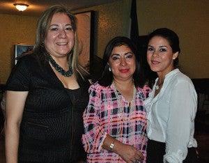 Celeste Rodríguez, Ester Amaya y Nayla Girón.