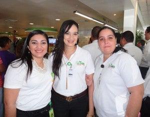 Alejandra Laínez, Tatiana Flores y Tania Sagastume.