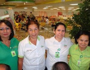 Olga Pérez, Lidia Cruz, Consuelo Sierra y Ana Díaz.