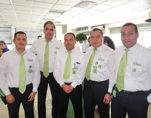 Hardy Luque, Marvin Godoy, Wilmer Chávez, Juan Carlos Sánchez y Mario Zavala.