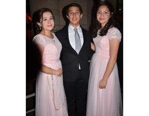 Daniela Hernández, Gabriel Matamoros e Isabela Hernández.