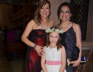 Wendy Chávez, Seida  Mendoza e Isabella Vázquez.