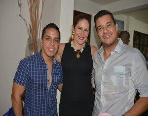 Rommel Galo, Pamela Amaya y Ariel Madrid.