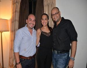 Héctor Erazo, Marcela Lozano y Mauricio García.
