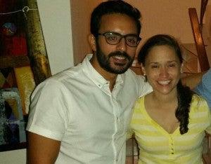 Juan Miguel Dibán y Aline Castillo.