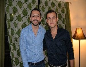 Los cumpleañeros, Aarón Flores e  Ilich Cruz.