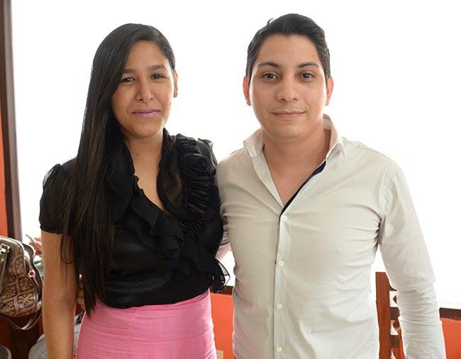 Liseth Reyes y José Luis Vitanza.