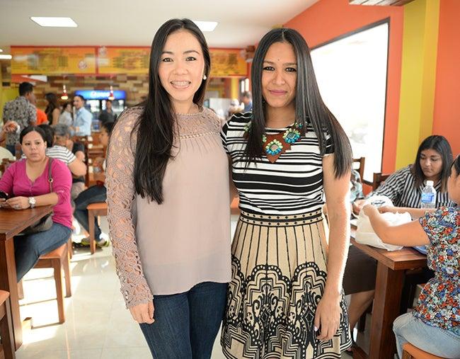 Isis Salazar y Lourdes Reyes.
