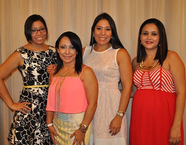 Daniela Carranza, Heidy Muñoz, Michelle Carranza y Jessica Reyes.