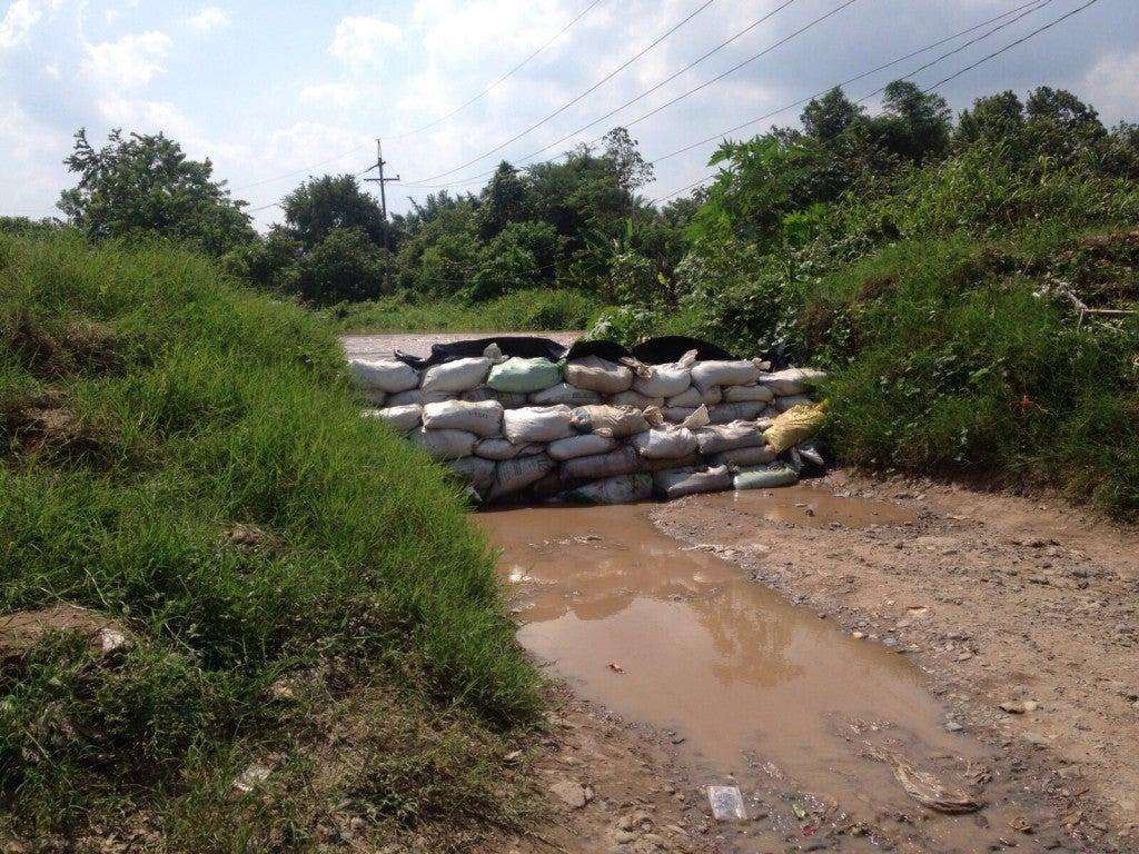 Crecida del Río Ulúa afecta ex campos bananeros en El Progreso3 (2)