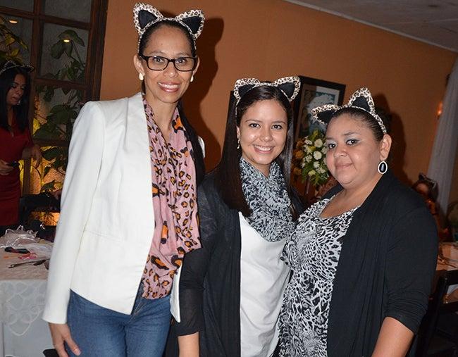 Oranis Uclés, Karla Valle y Johana Turcios.