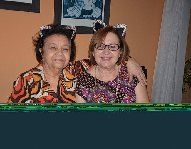 Elizabeth Pavón y Vilma Méndez.