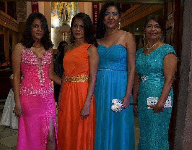 Rosa Ramos, Nelly bravo, Dalila Munguía y Nelly bravo.