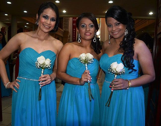 Claudia Barahona, Else Durón y Nubia Maradiaga.