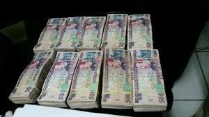 Autoridades tienen asegurado el dinero encontrado.